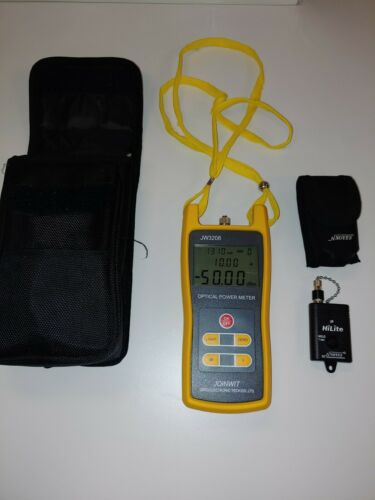 JW3208 optical power Meter including Noyes HiLite and case