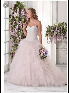 Size 18 blush pink wedding dress