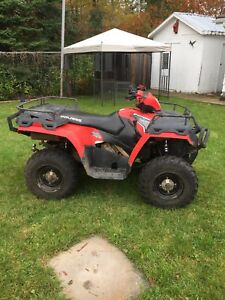 2012 Polaris sportsmen 400 HO with snow plow