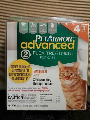 Pet Armor Advanced 2 Flea Treatment for Medium Cats (5- 9 LBS)