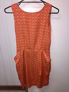 Orange Woman's Dress Belmont Belmont Area Preview