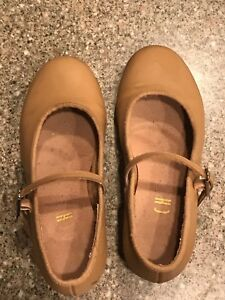 Tan colored 'Tap-on' Bloch tap shoes size 12