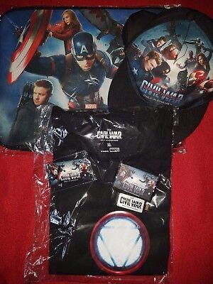 MARVEL Captain America Civil War Merch Paket SAMMLERSTÜCKE / SELTEN