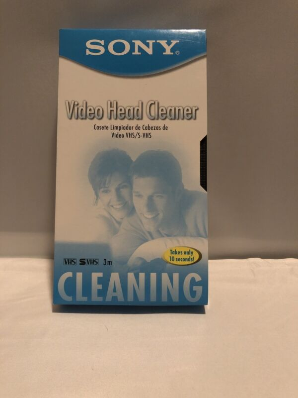 Sony Video Head Cleaner, T-6CLDL, Dry Type Vhs/S-VHS