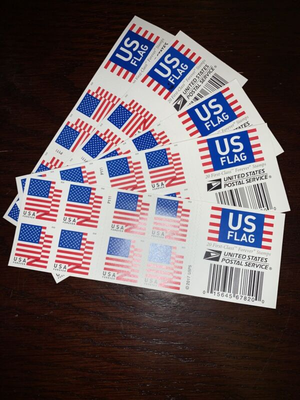 US American Flag Forever Stamps 2018 USPS US First Class Postage 100 Stamps