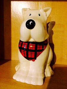 Scottish dog cookie jar