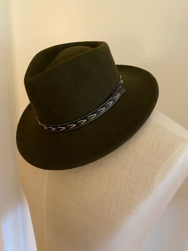 Vintage Official Boy Scout Hat Fedora Brown Wool Size Small  Made In USA