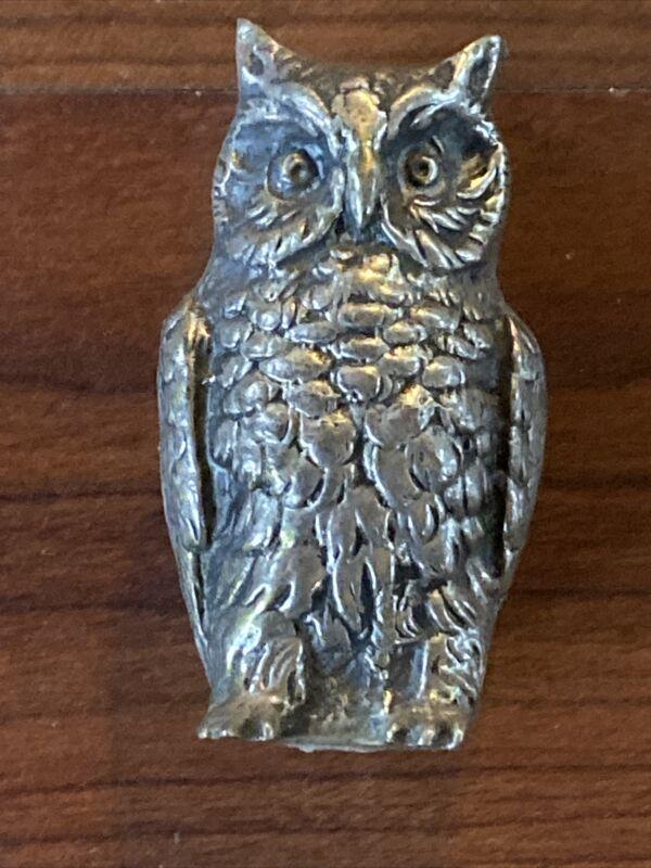 Antique Silver Owl .800