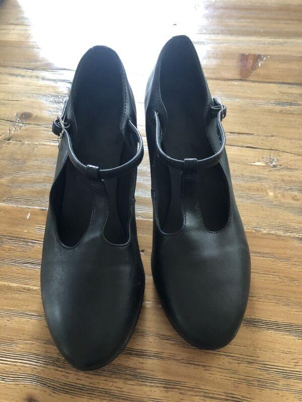 "Sodanca 2"" Black Character shoes GUC Womens 8.5 8 1/2M Dance Jazz Theatre"