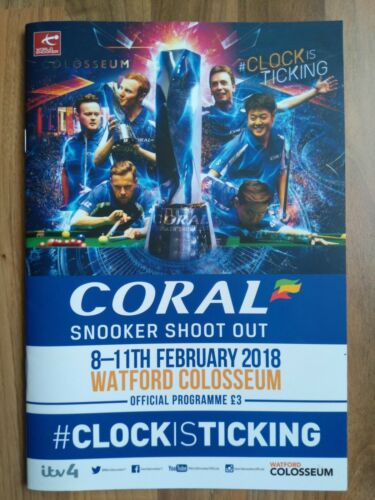 Coral Snooker Shoot Out 2018 programme, Watford Colosseum