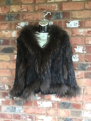 JayLey Fox and Coney Fur Cape Jacket, One Size RRP £356