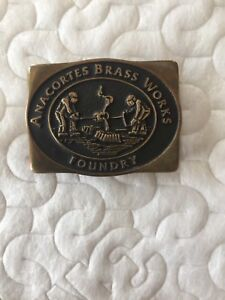 Vintage Solid Brass Belt Buckle