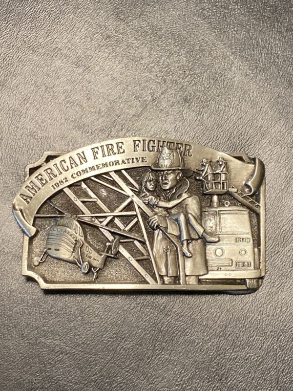 1981 Arroyo Grande American Firefighter Commemorative Belt Buckle Limited
