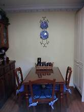 Solid timber dining table + 4 chairs Homebush Strathfield Area Preview