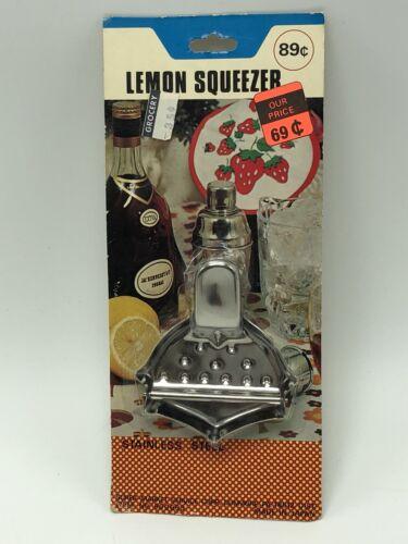 Lemon Squeezer Stainless Steel Barware Vintage 1970s Kitchen