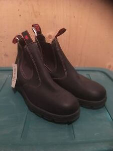 Red Back pull on shoes black like blundstone