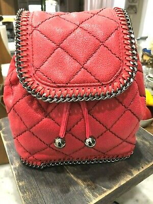 Stella McCartney Falabella Shaggy Deer Mini Quilted Backpack in Pink Fluo $1K+