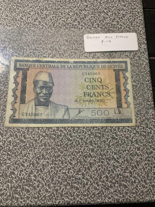 Guinea 1960 500 Francs p14a -VF-XF