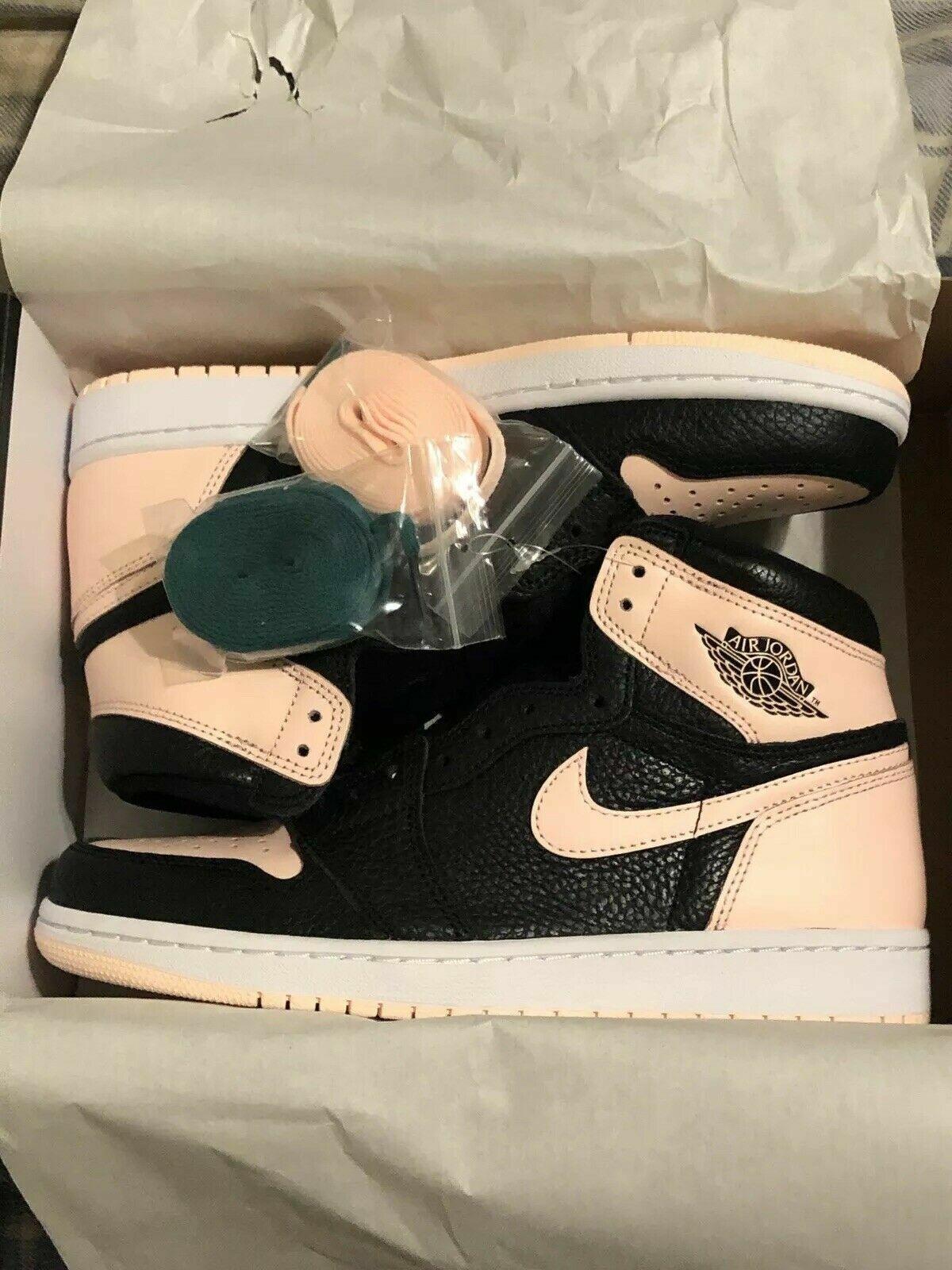 Nike Air Jordan Retro I 1 HIGH OG Crimson Tint Black Pink 555088-081 Size  4y-14