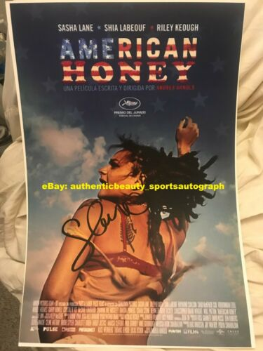 AMERICAN HONEY SHIA LABEOUF SASHA LANE STAR SIGNED MOVIE POSTER 12x18 REPRINT RP