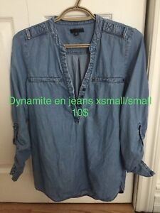 Chemise en jeans dynamite xsmall/small