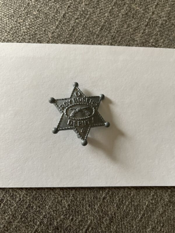 Vintage Lone Ranger Deputy Badge Pin Star Mask