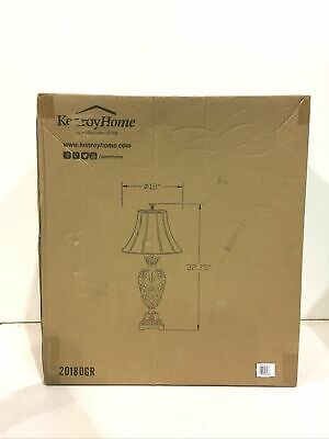 Kenroy Home 20180GR Iron Lace 33 in. Golden Ruby Table Lamp New Other Lace Traditional Table Lamp