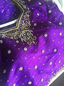 Purple lengha