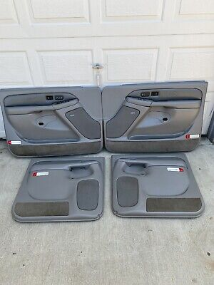 99-02 Chevy GMC Suburban Tahoe Yukon LH  RH Interior Door Panels All 4 Denali