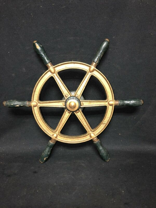 "16 1/4"" Metal & Wood Ships Wheel"