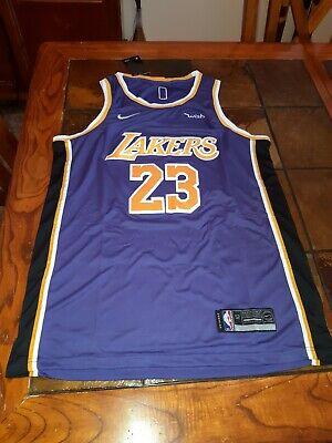 New Nike LeBron James #23 LA Lakers NBA Swingman Jersey size 2XL
