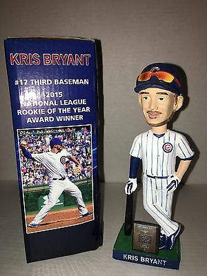 Chicago Cubs World Series Kris Bryant Mvp Roy Bobblehead Without Ticket Stub