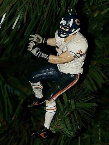 brian URLACHER chicago BEARS xmas NFL football TREE ornament HOLIDAY vtg JERSEY