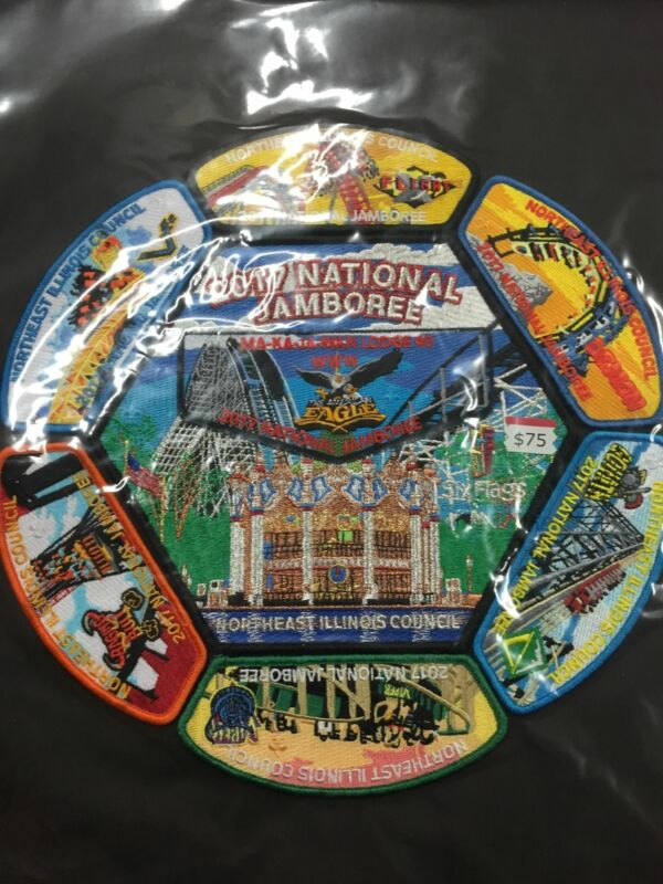 2017 National Jamboree 8 Piece Northeast Illinois Council Set [JAMBO]