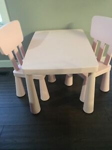 Pink little kids table