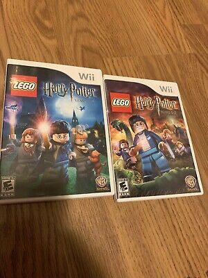 NINTENDO Wii LEGO Harry Potter Years 1-4 & 5-7 Bundle with instructions & cases