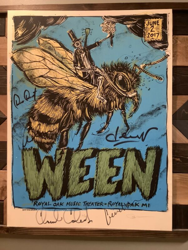Ween Signed Poster  (on Poster board)