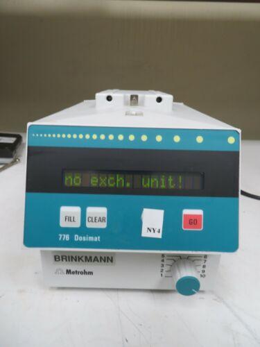Metrohm Brinkmann - model 776 - Dosimat - Universal Dispensing Unit - NY4