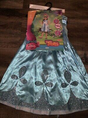 Kid Troll Halloween Costume (Trolls Poppy ~ Halloween Kid's Costume Girl's Disguise Dress w/Hair ~ M)