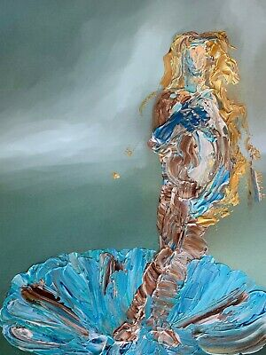 Birth of Venus Abstract Realism Rework Palette Knife Art Painting Bottichelli