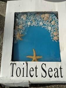 Polyresin toilet seat- beach theme Moonah Glenorchy Area Preview