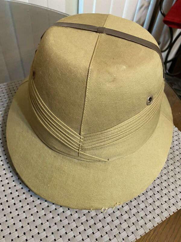 BOMBAY BOWLER Real Pith Hat, Sun Proof, Made India Size 7 5/8 ~786