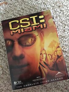 CSI MIAMI season 3 dvd