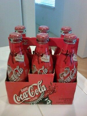 Coca Cola Classic For Santa Six Pack 8oz Unopened Christmas Bottles