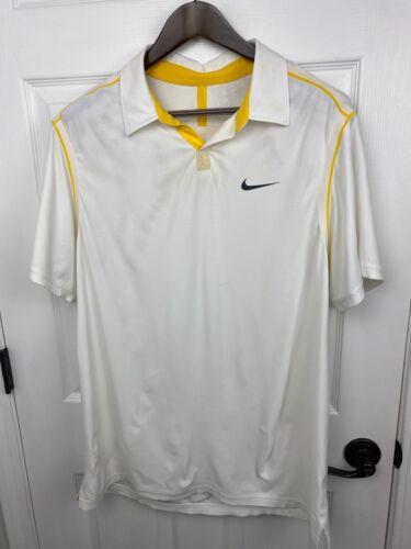 Roger Federer Nike 2011 Australian Open Polo Shirt Mens sz Large RF Tennis RAFA