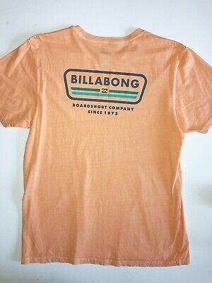 Billabong New Badge Wave Washed Short Sleeve T-Shirt Mens Size Large Cantaloupe