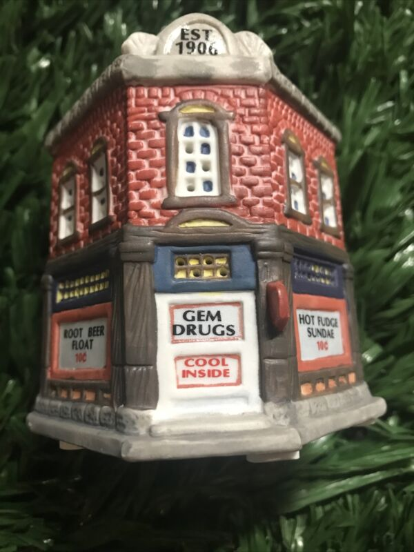 American Landmarks Collection Gem Drugs Christmas 1994 Home Town America