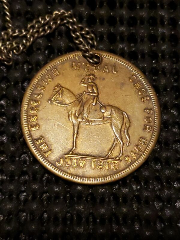 1910 Excelsior Boy Scouts BSA Ad Swastika Good Luck Coin Awesome Coin!