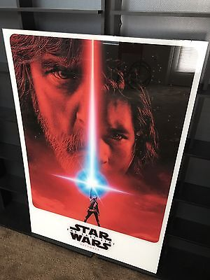 The Last Jedi, Star Wars movie poster, 27x40 DS printed on glass (plexi)