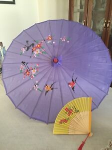 NEW Chinese umbrella and hand held fan for summer